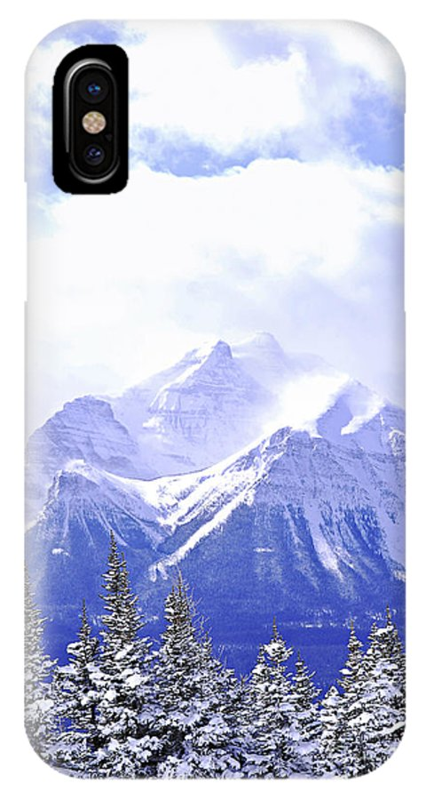 Mountain IPhone X Case featuring the photograph Snowy Mountain by Elena Elisseeva