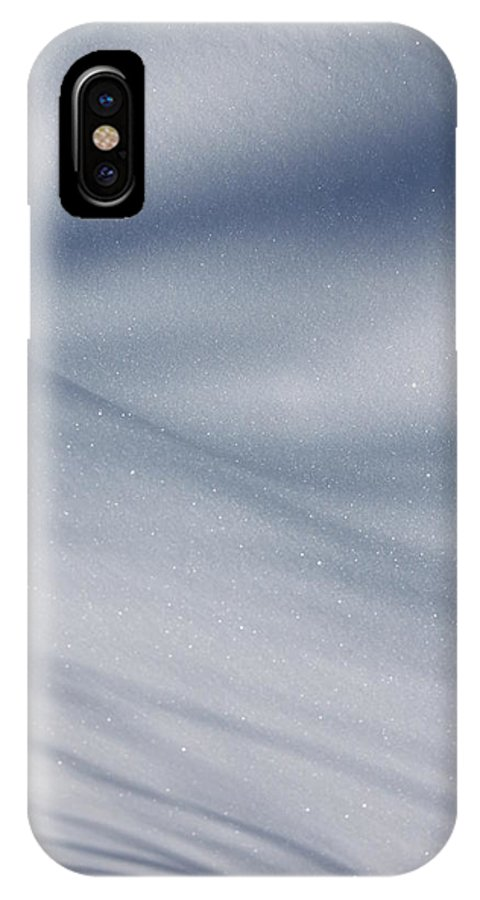 Snow IPhone X Case featuring the photograph Snowy Shadows 2 by Lauri Novak