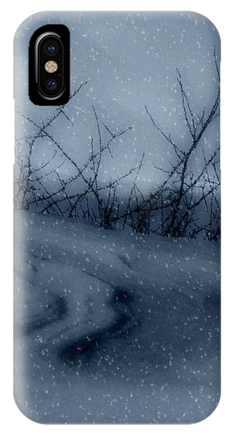 Snow IPhone X Case featuring the photograph Snowy Tranquility by Kenneth Krolikowski