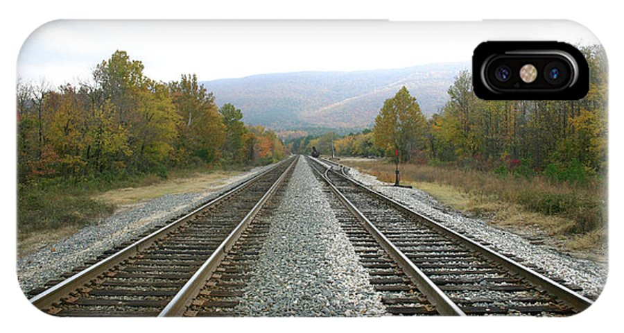 Tracks IPhone X Case featuring the photograph So Far Away by Nina Fosdick