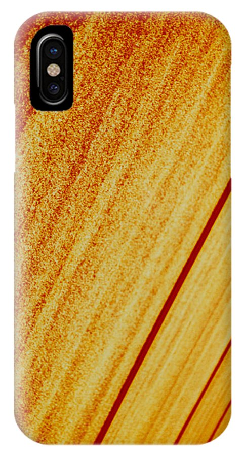 Abstract IPhone X Case featuring the photograph Sod by David Rivas