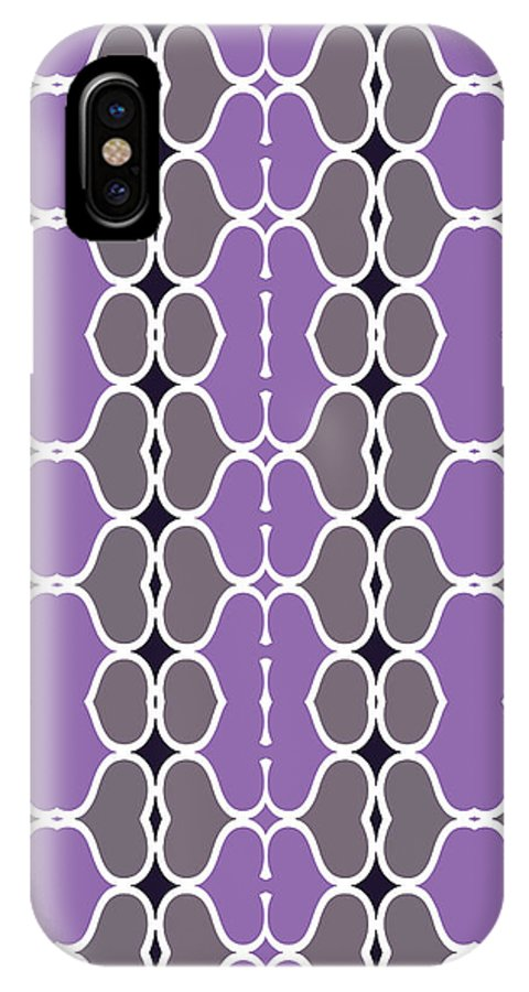 Purple IPhone X Case featuring the digital art Sofala by Ceil Diskin