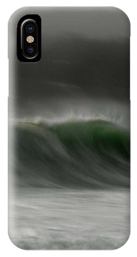 Ocean IPhone X Case featuring the photograph Soft Curl by Donna Blackhall