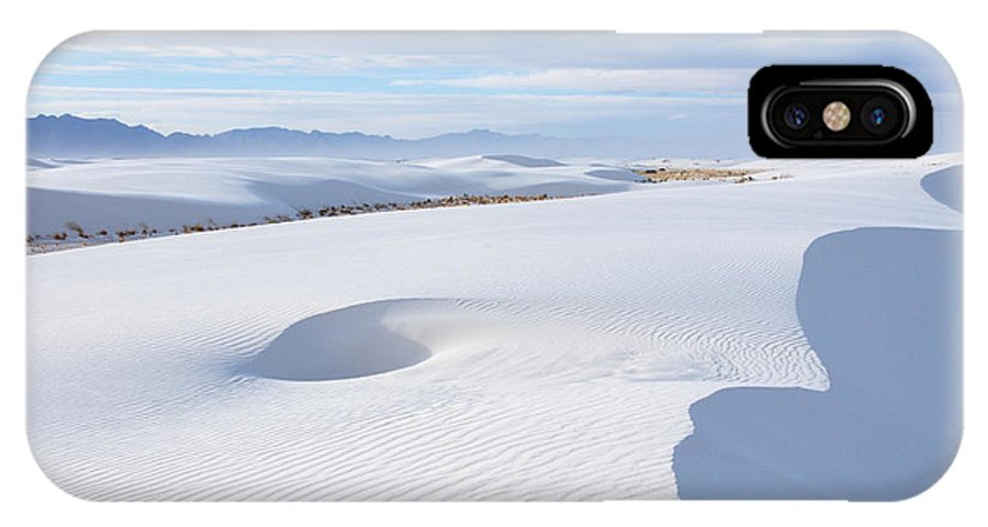 White Sands IPhone X Case featuring the photograph Soft Enchantment by Vivian Christopher