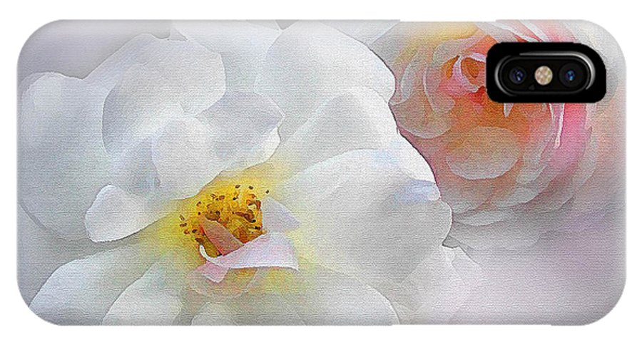Roses IPhone X Case featuring the painting Soft Roses by Robert Foster