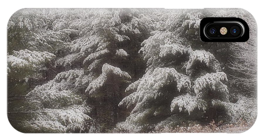 Snow IPhone X Case featuring the photograph Soft Snow by Tammy Bullard