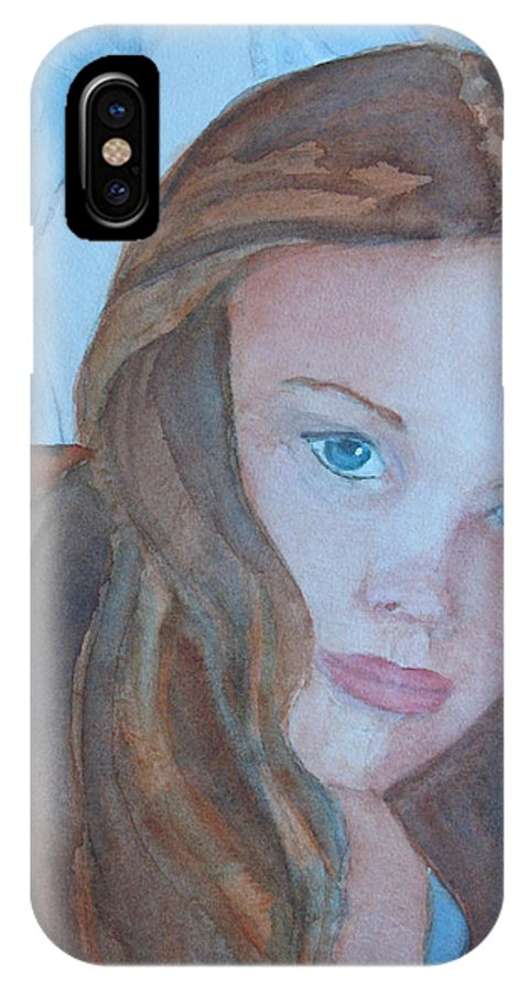 Girls IPhone Case featuring the painting Soft Steel by Jenny Armitage