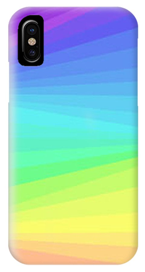 Modern IPhone X Case featuring the digital art Softly Through The Light by ME Kozdron