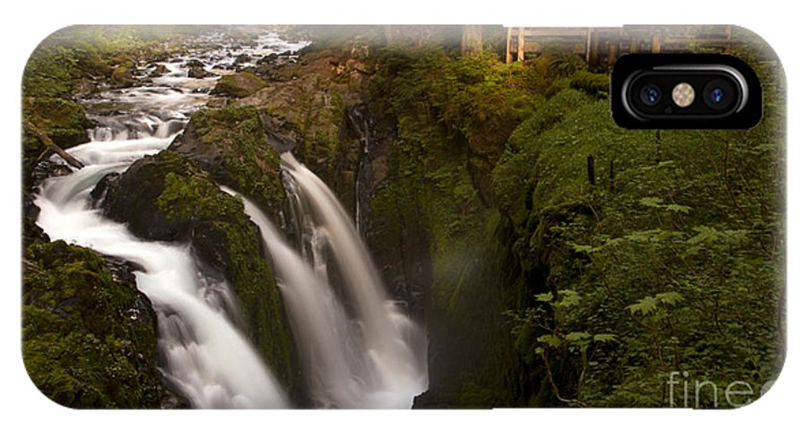 Olympic National Park IPhone X / XS Case featuring the photograph Sol Duc Falls by Heniek