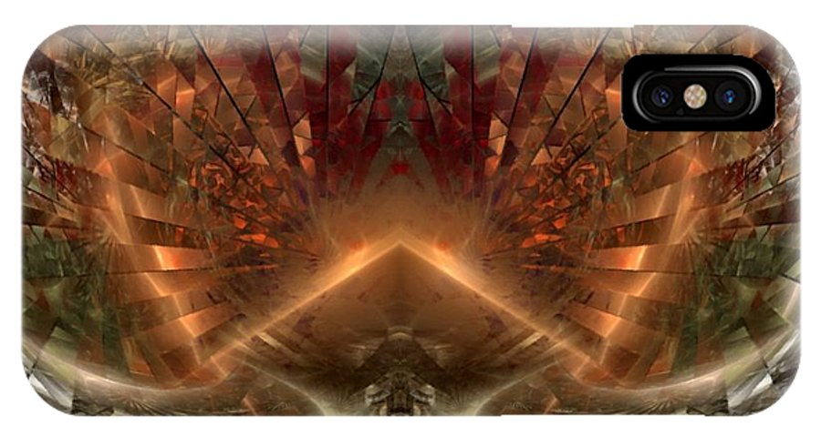 Sun IPhone X Case featuring the digital art Sol Invictus by Nirvana Blues