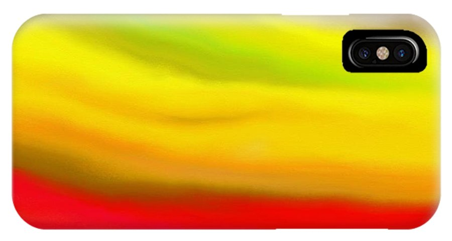 Abstract IPhone X Case featuring the painting Solar Flare by Angie Armstrong