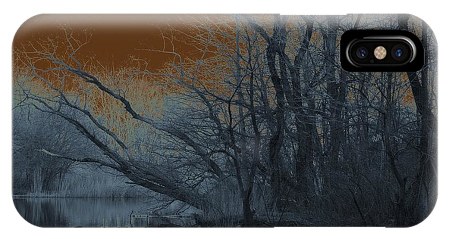 Solarization IPhone X Case featuring the photograph Solarization by Kendall Eutemey