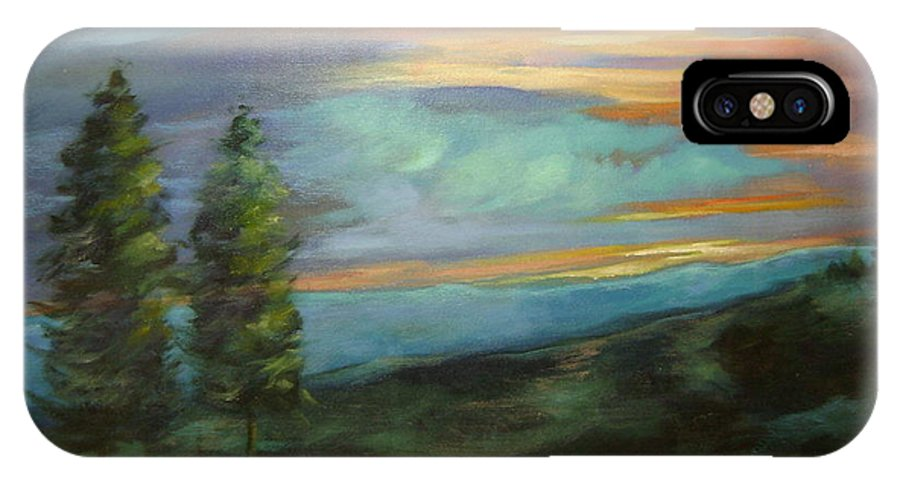 Landscape IPhone Case featuring the painting Soledad by Ginger Concepcion