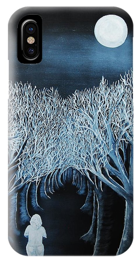 Landscape IPhone X Case featuring the painting Solidad by Lauren Luna