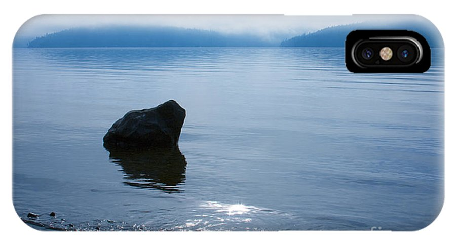 Alone IPhone X Case featuring the photograph Solitude by Idaho Scenic Images Linda Lantzy