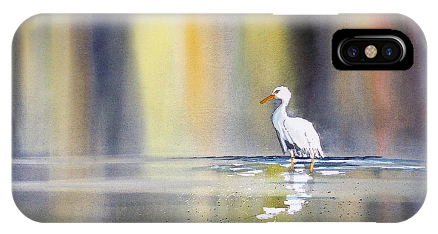 Watercolor IPhone X Case featuring the painting Solitude by Ryan Radke