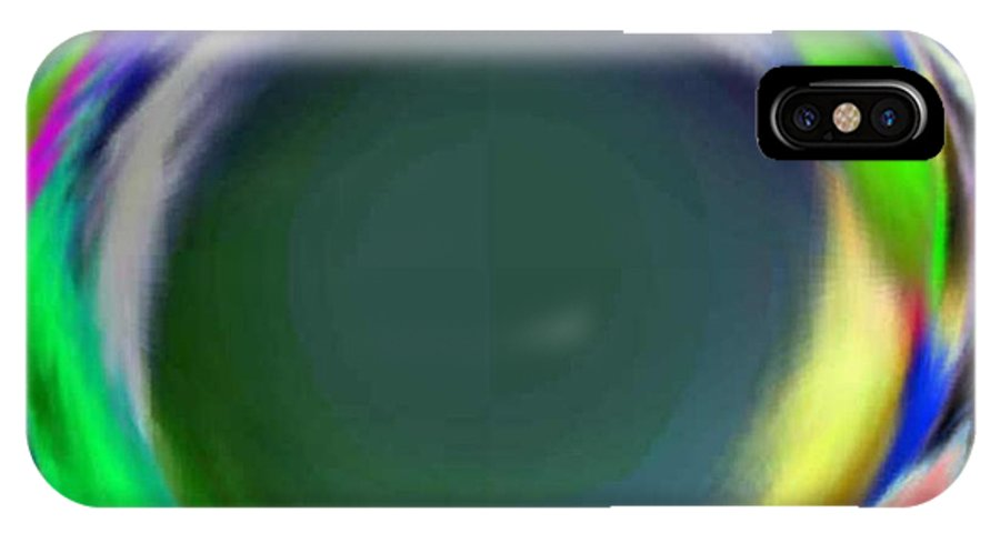 Abstract Art IPhone X Case featuring the digital art Soloist 2nd Wind by Brenda L Spencer
