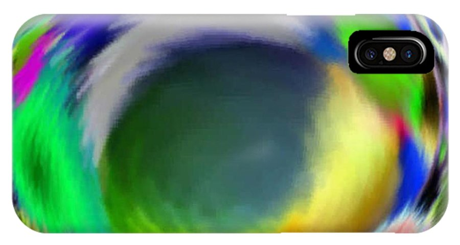 Abstract Art IPhone Case featuring the digital art Soloist Whirlwind by Brenda L Spencer