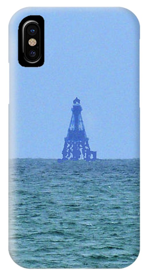 Pat Turner IPhone X Case featuring the photograph Sombero Reef Lighthouse by Pat Turner