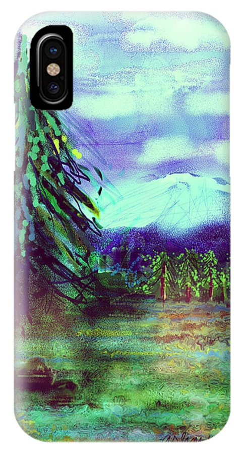 Tree IPhone X Case featuring the digital art Something Left Behind by Arline Wagner