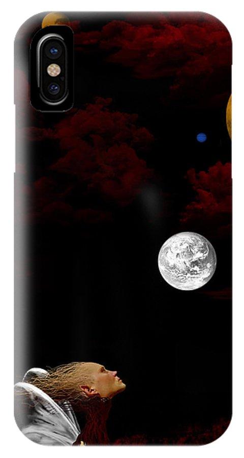 Moon IPhone Case featuring the digital art Sometimes I Wonder by Ruben Flanagan