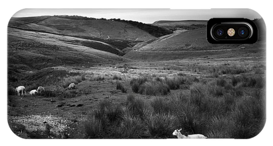 Peak District IPhone X Case featuring the photograph Somewhere by Dorit Fuhg