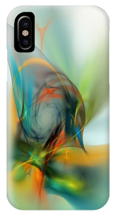 Digital Painting IPhone X Case featuring the digital art Sorcerers Apprentice by David Lane