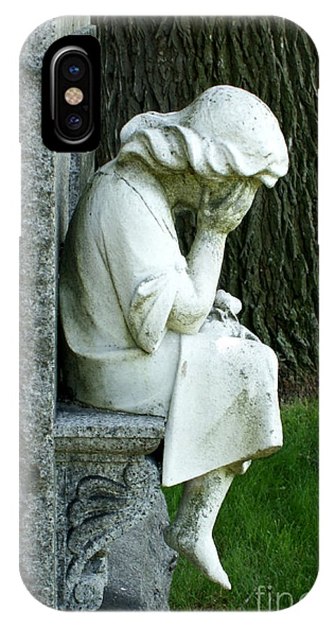 Cemetery IPhone X Case featuring the photograph Sorrow by Valerie Fuqua