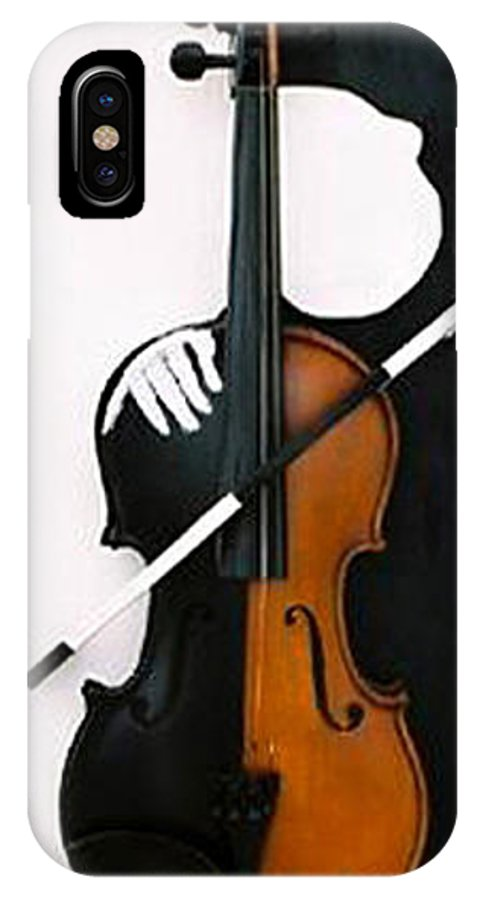 Violin IPhone X Case featuring the sculpture Soul Of Music by Steve Karol