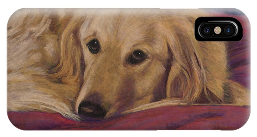 Dogs IPhone Case featuring the painting Soulfull Eyes by Billie Colson