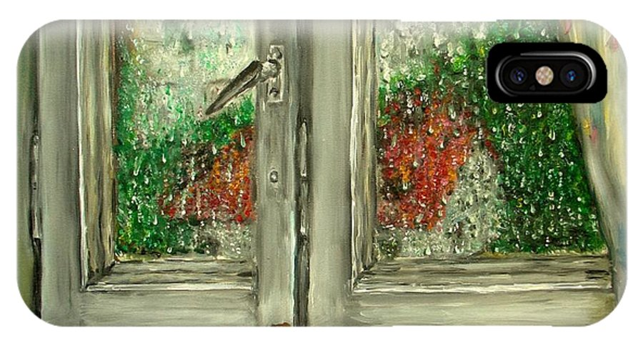 Rain IPhone Case featuring the painting Sound Of Rain Oil Painting by Natalja Picugina