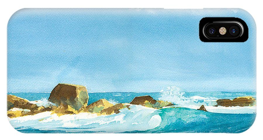 Waves IPhone Case featuring the painting Sound Of Surf by Ray Cole