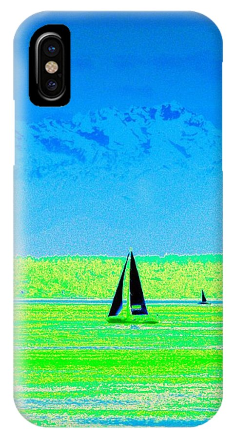 Sail IPhone X Case featuring the photograph Sound Sailin by Tim Allen