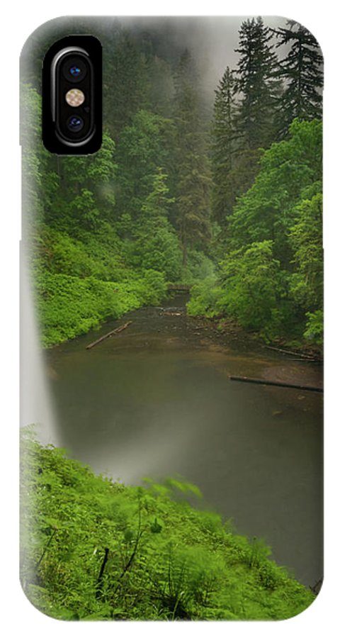 Michele James Photography IPhone X / XS Case featuring the photograph South Falls Vista by Michele James