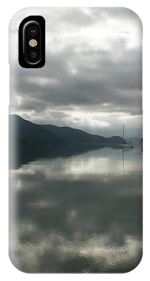 Landscape IPhone X Case featuring the photograph South Island Inlet by Nicola Hubbard