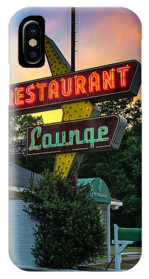 Restaurant IPhone X Case featuring the photograph South Of The Border by Chris Coffee