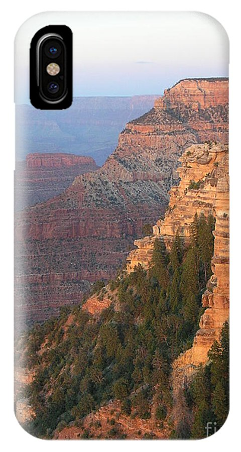 Sunset IPhone X Case featuring the photograph South Rim Sunset by Louise Magno