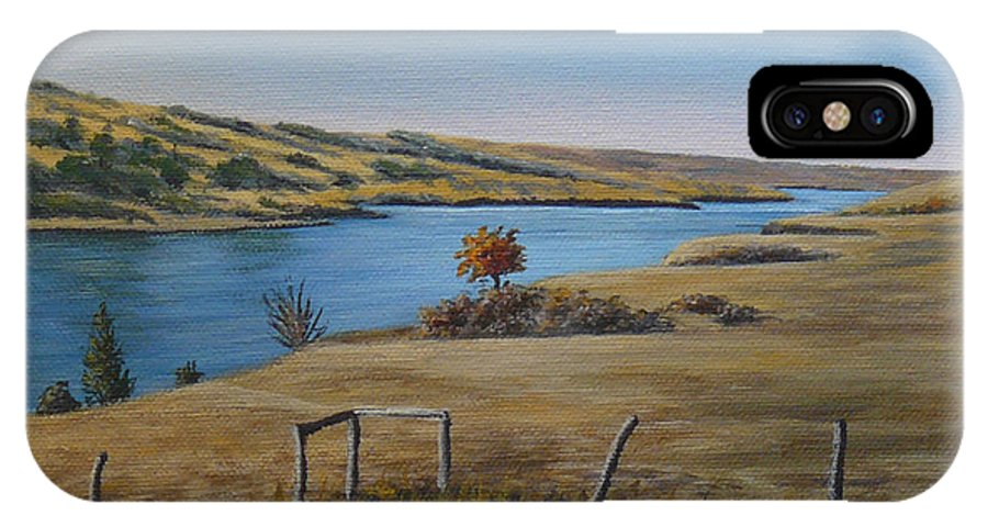 Rivers IPhone X Case featuring the painting South Saskatchewan River by Sheryn Johnson