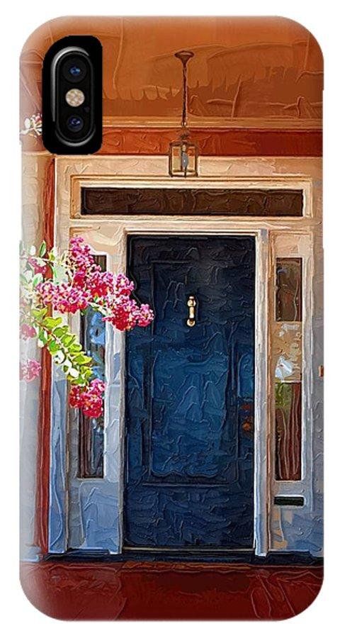 Door IPhone X Case featuring the photograph Southern Door by Donna Bentley