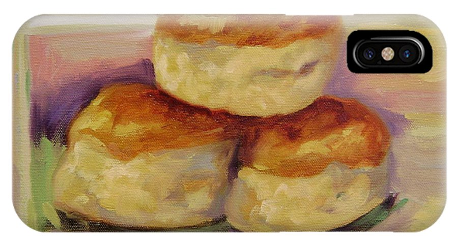 Biscuits IPhone Case featuring the painting Southern Morning Fare by Ginger Concepcion