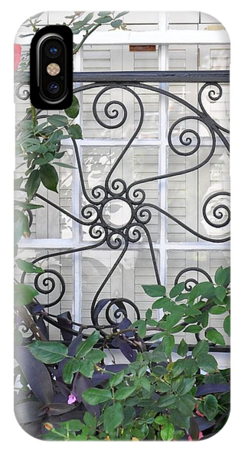 Charleston IPhone X Case featuring the photograph Southern Windows by Sally Falkenhagen