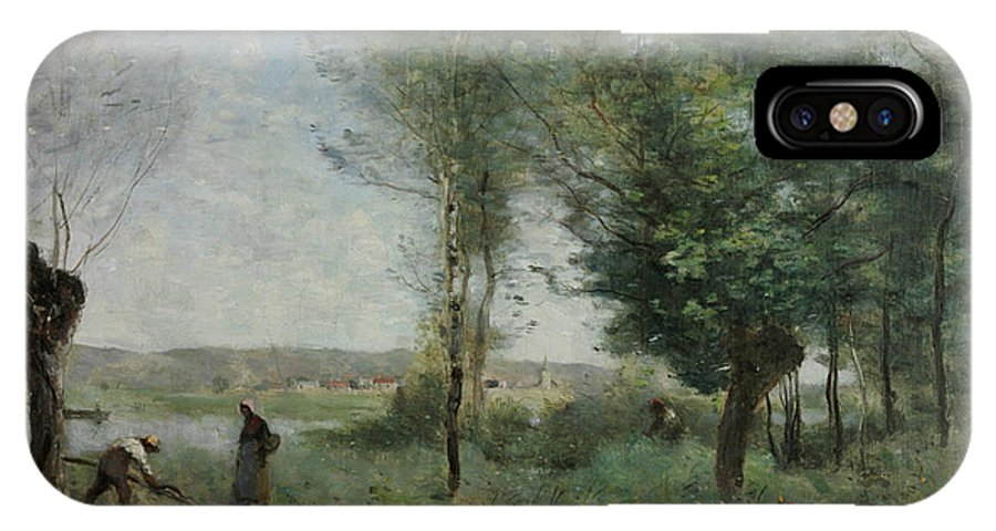 Jean-baptiste-camille Corot IPhone X Case featuring the painting Souvenir Of Coubron by Jean-Baptiste-Camille Corot