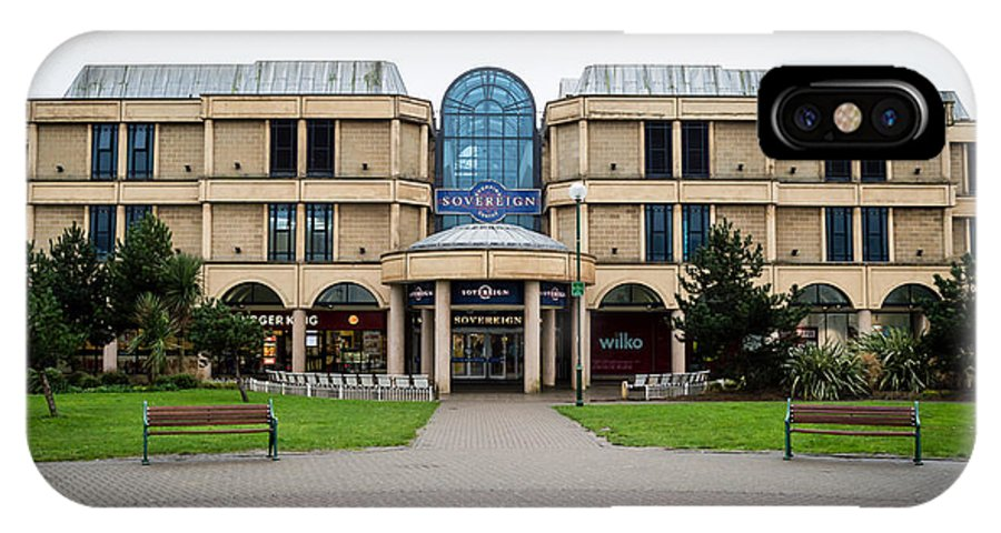 16x9 IPhone X Case featuring the photograph Sovereign Shopping Centre - Entrance From The Garden by Jacek Wojnarowski
