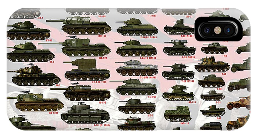 Soviet Tanks ww2 IPhone X Case