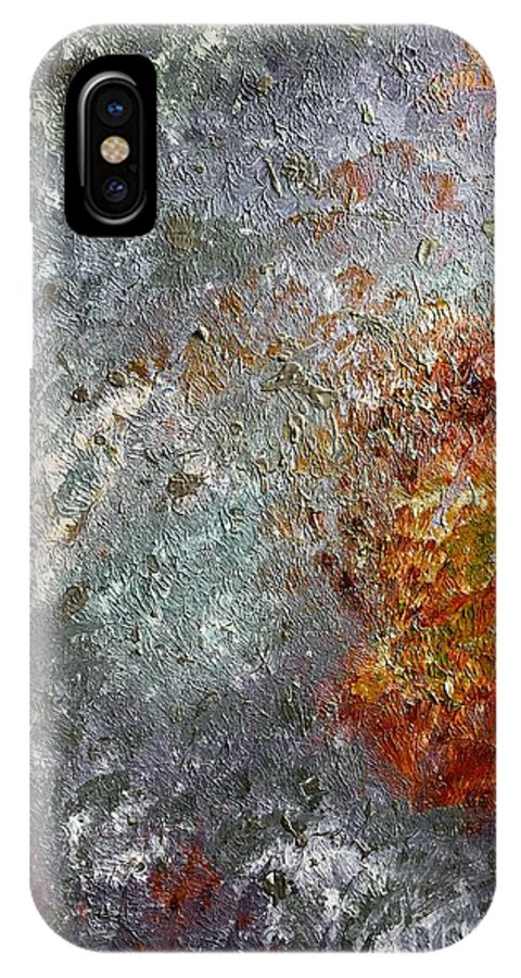 Artwork IPhone X Case featuring the painting Space by Amelle Eley