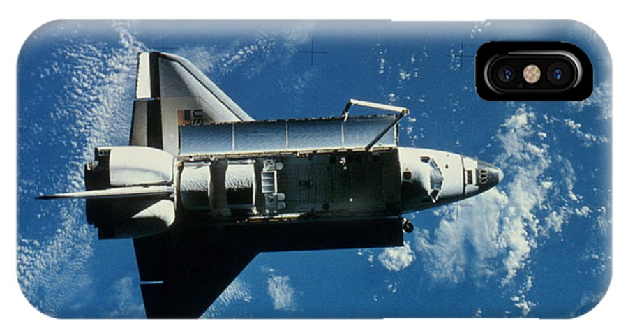 Challenger IPhone X Case featuring the photograph Space Shuttle Challenger by Granger
