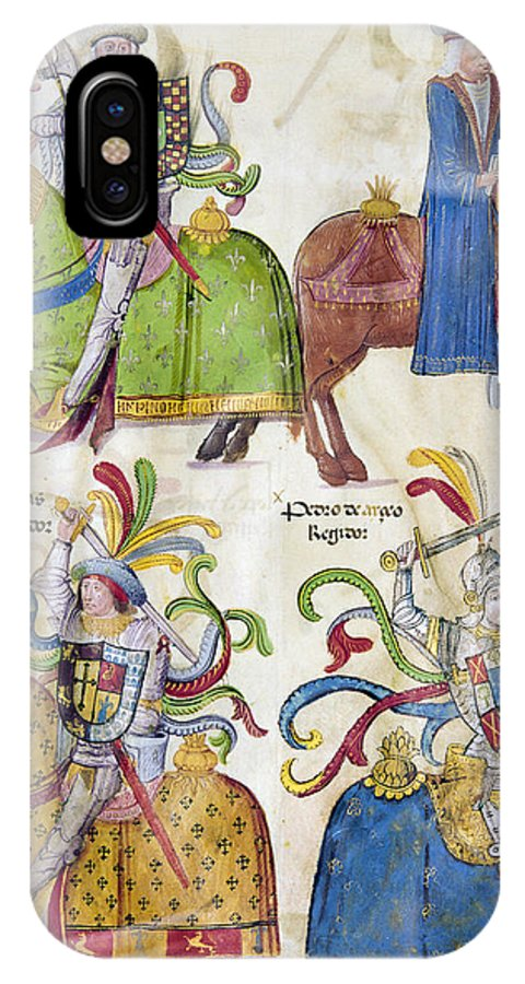 1350 IPhone X Case featuring the photograph Spain: Knights, C1350 by Granger