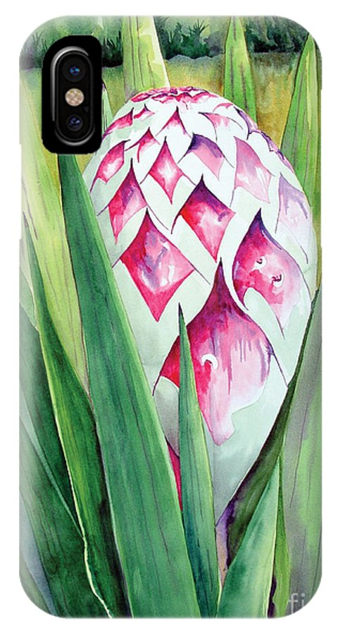 Floral Painting IPhone X Case featuring the painting Spanish Dagger II by Kandyce Waltensperger