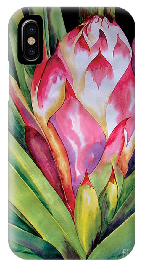 Floral Painting IPhone Case featuring the painting Spanish Dagger Iv by Kandyce Waltensperger