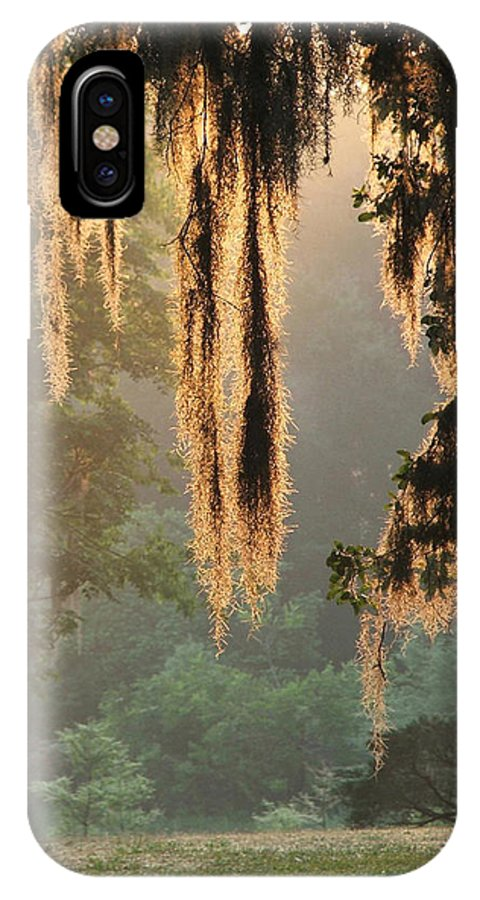 Spanish Moss IPhone X Case featuring the photograph Spanish Moss In The Morning by Robert Meanor